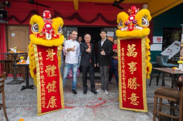 L to R - Chef Fabio Ruggiero, Dr Ng Wee Kiong, Mr En Kiat